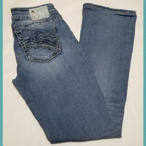 Silver Aiko Light Wash Low Rise Bootcut Jeans
